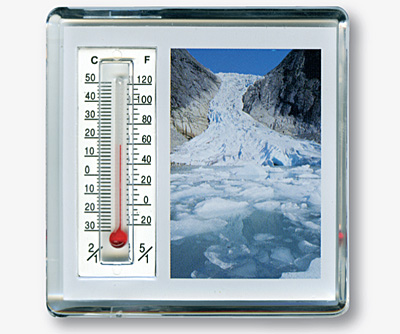 Magnet m/termometer, Briksdalsbreen