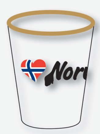 Shotglass, Love Norway